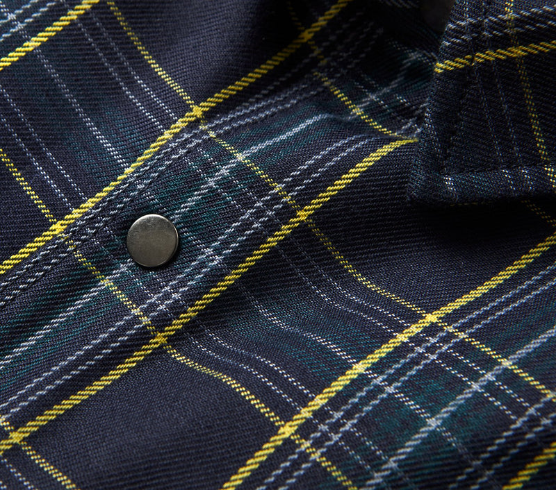 Checked Coaches Jacket - Navy Green