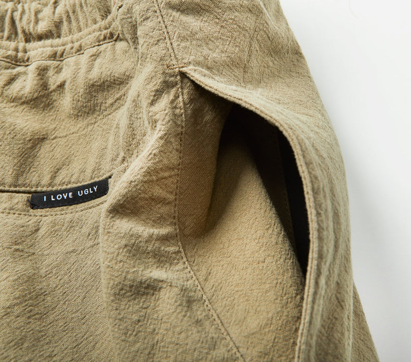 Linen Anton Track Pant - Dusty Green