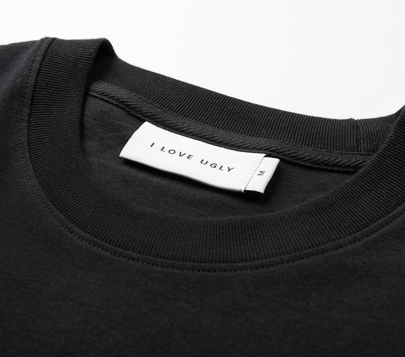 Hand-written Relaxed Tee - Black