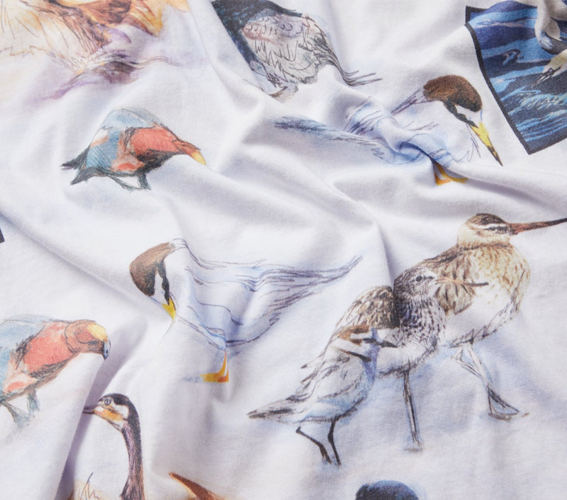 Bird Species Tee - White