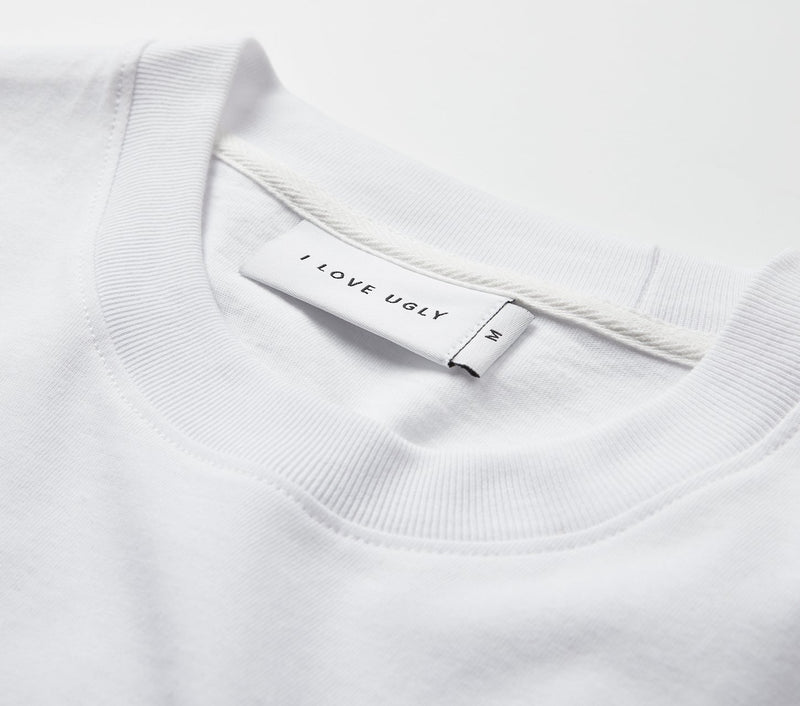 Hand-written Relaxed Tee - White