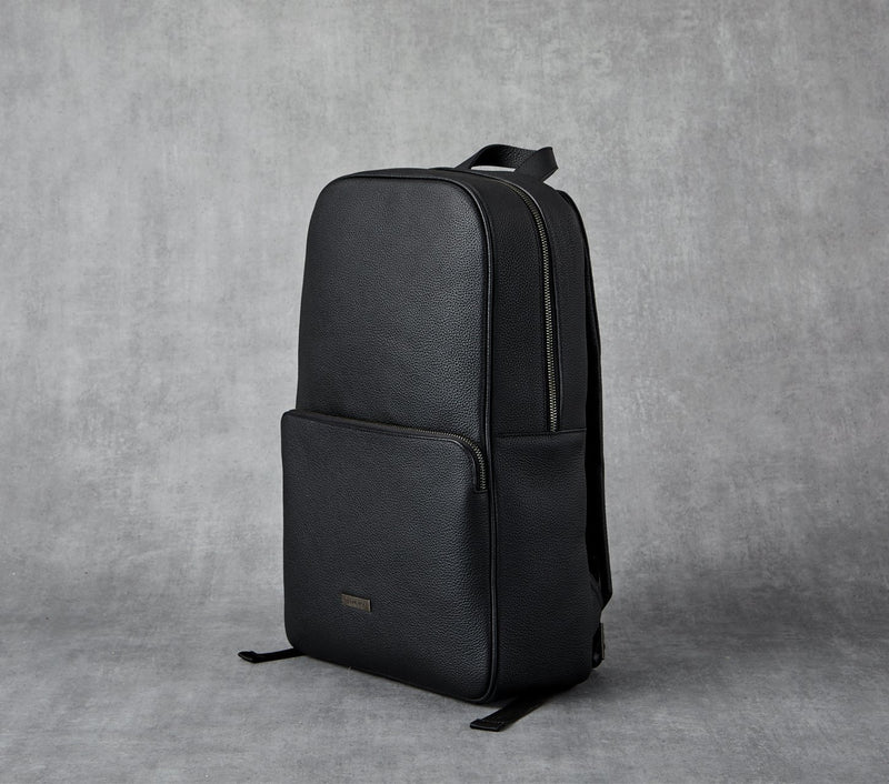 Back Pack - Black Leather