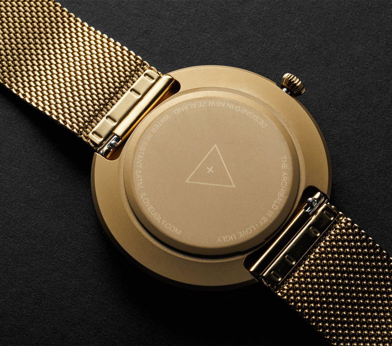 Archibald Watch - Gold Mesh