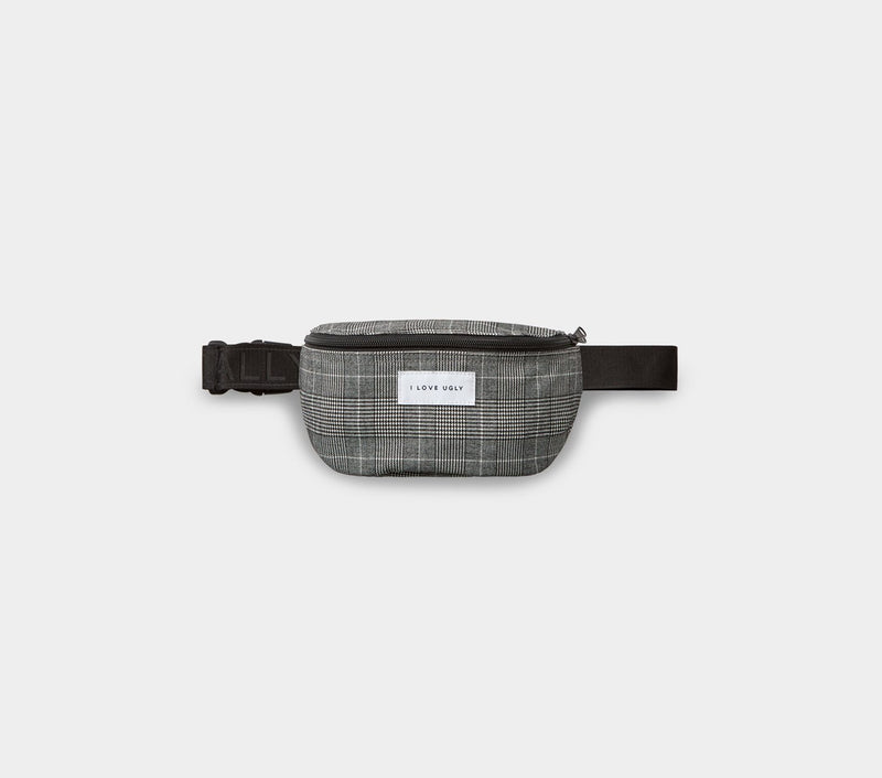 Flight Bag  - Black Check