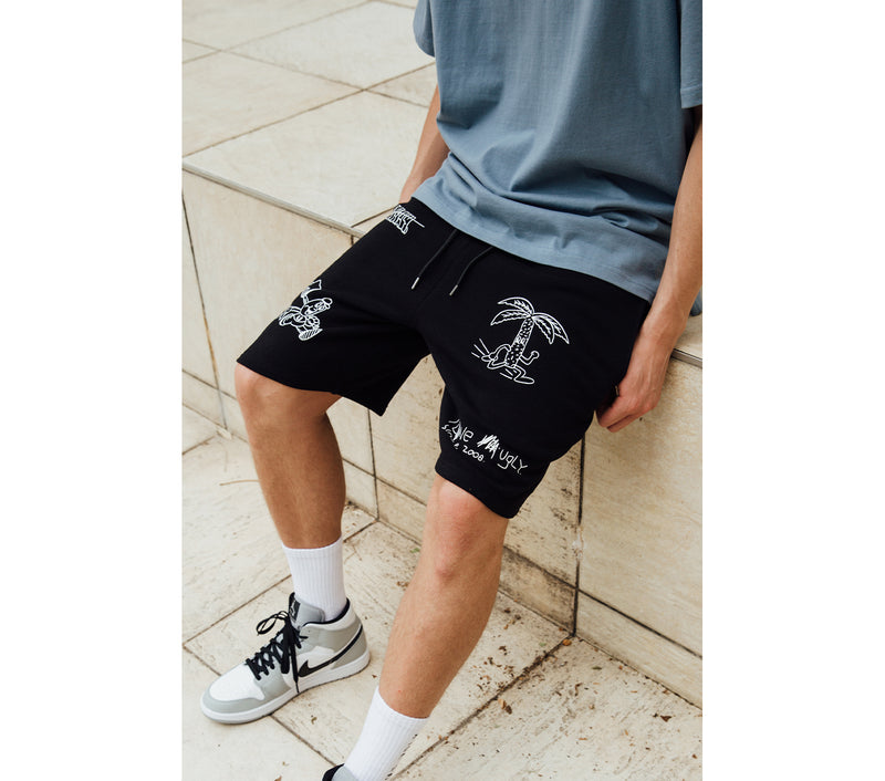 Living or Dead Trackie Short - Black