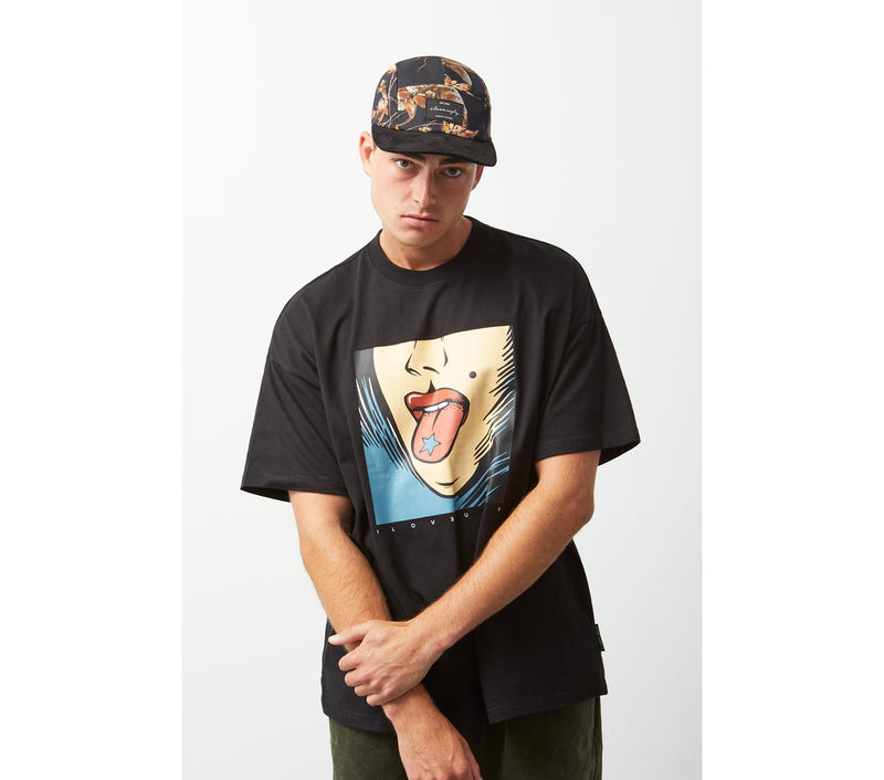 Candy Box Fit Tee - Black