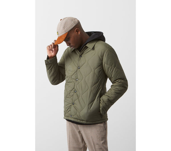 Quilted Coaches Jacket - Forrest Green