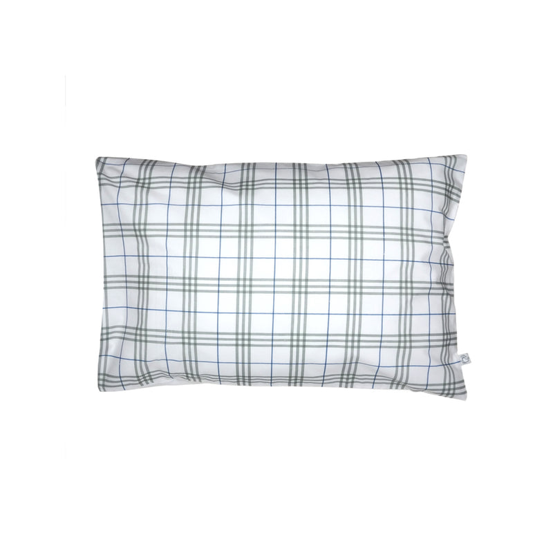 Handprinted Junior Cushion (Kid's pillow) – Classy Checks - Blue