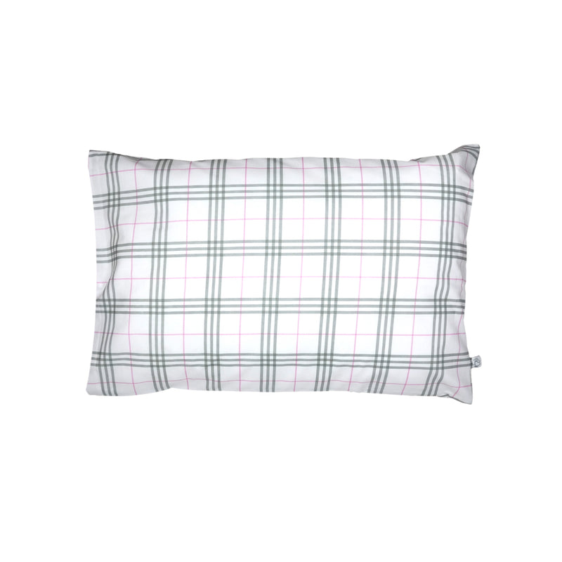 Handprinted Junior Cushion (Kid's pillow) – Classy Checks - Pink