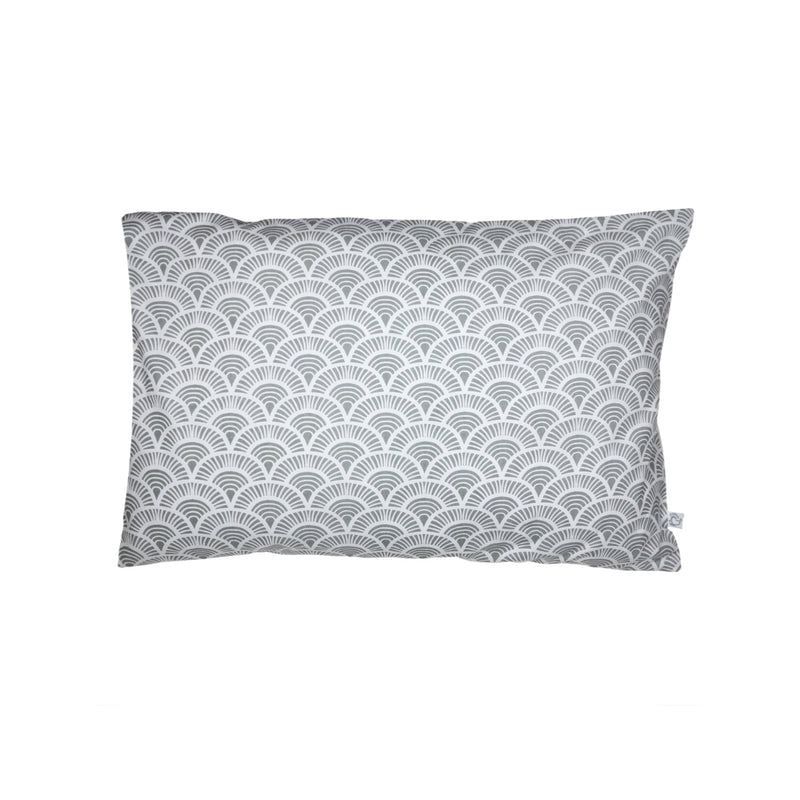 Handprinted Junior Cushion (Kid's pillow) – Art Deco - Grey