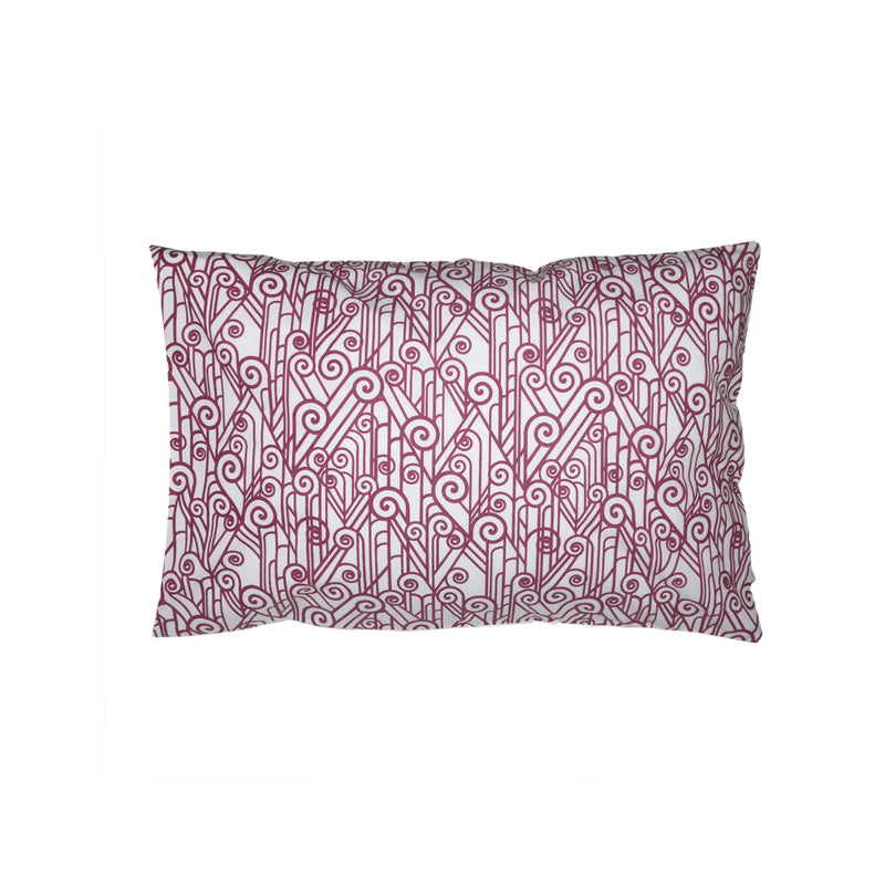 Handprinted Junior Cushion (Kid's pillow) – Vintage Spiral - Red