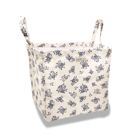 Acrylic Coated Laundry Bag - English Rose - Cream