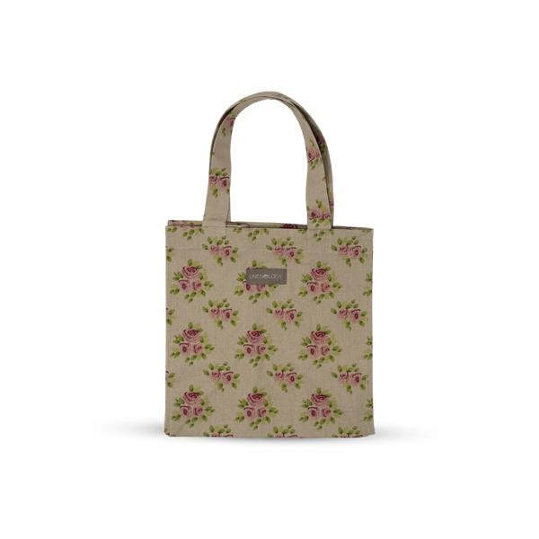 Acrylic Coated Lunch Bag - Vintage Rose
