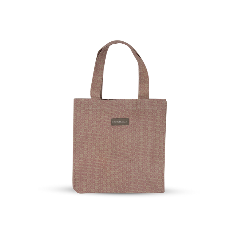 Acrylic Coated Lunch Bag - Geo Pink