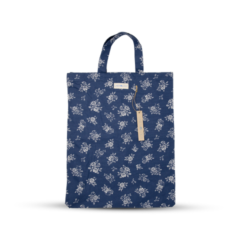 Shopping Bag - English Rose - Navy