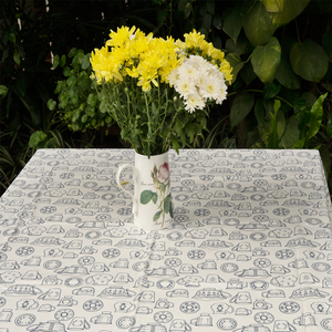 Table Cloth - Cup & Saucer - Cream