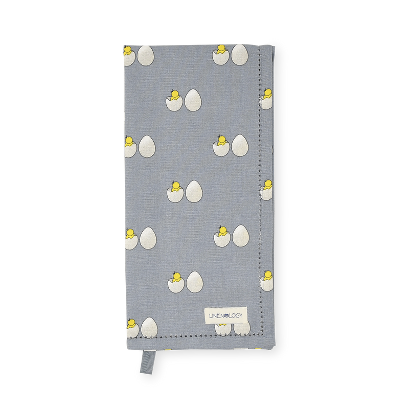 All Purpose Towel Set - Chick & Egg - Blue Fog