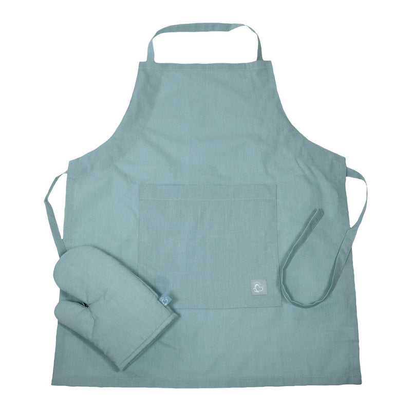 Little Chef Organic Kitchen Apron Set - Ether