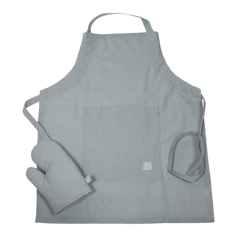 Little Chef Organic Kitchen Apron Set - Mist