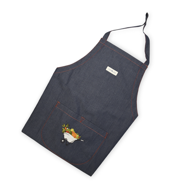 Apron - A Barrow full of Goodness - Indigo