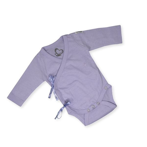 Organic Newborn Suit - A New Me - Purple