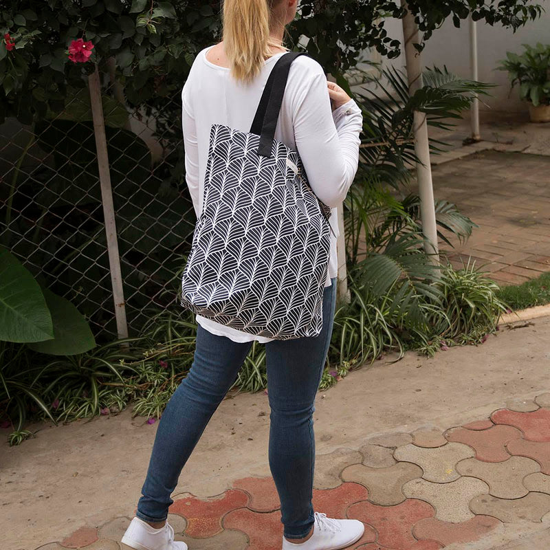 Canvas Tote - Abstract - Black