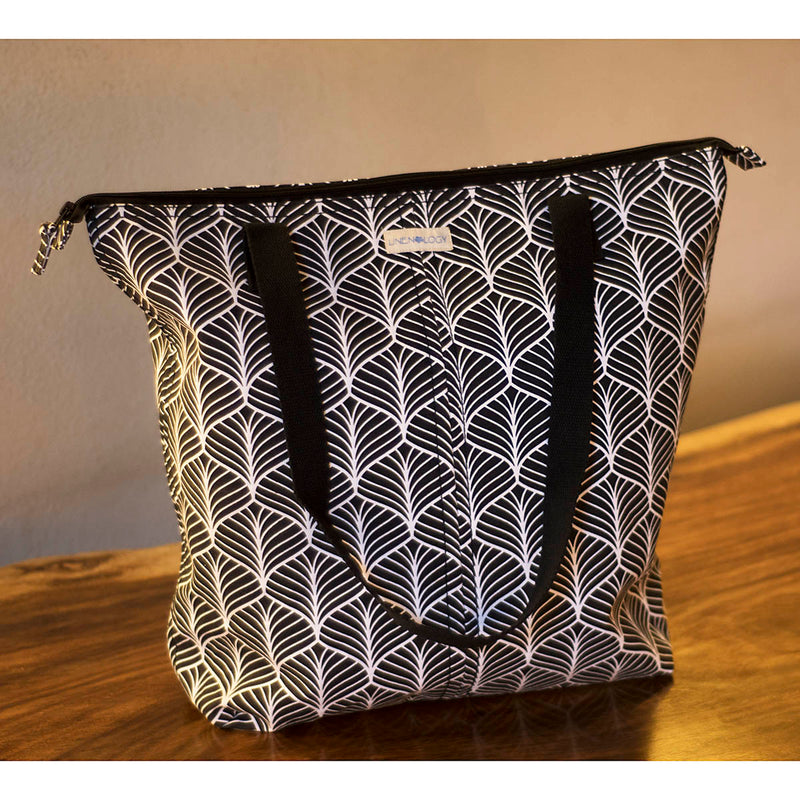 Super Sized Tote - Abstract - Black
