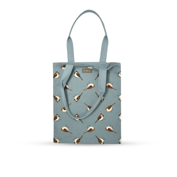 Book Bag - Sparrows - Cameo Blue