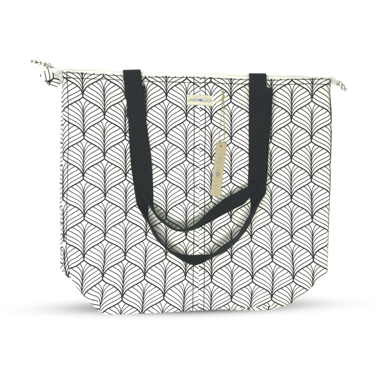 Super Sized Tote - Abstract - White