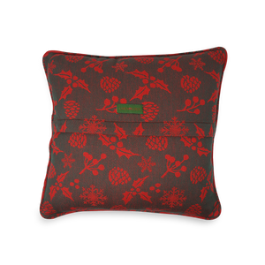 Cushion Cover - Happy Holly - Green