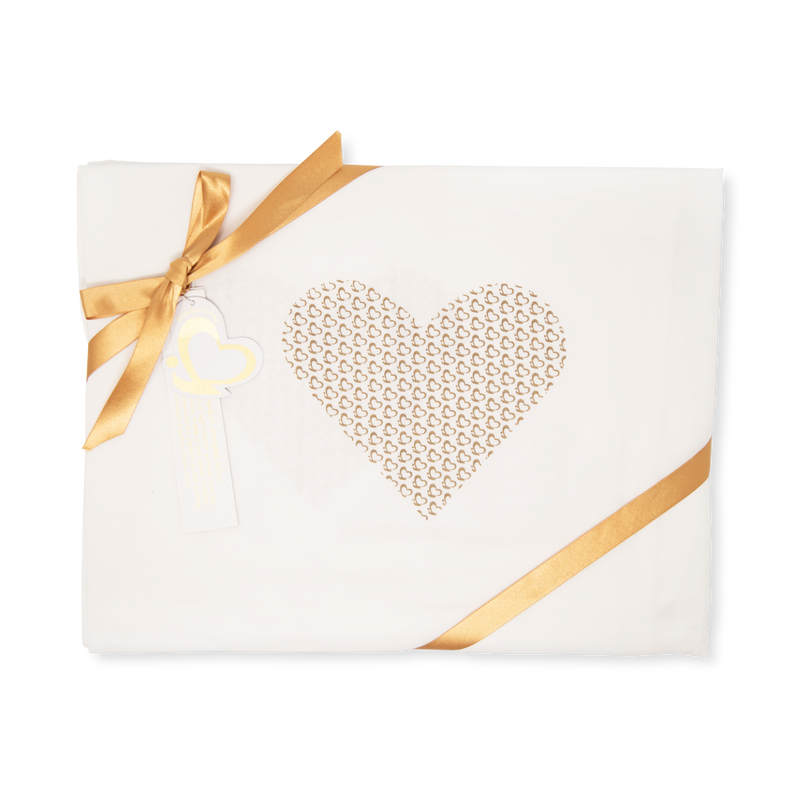 Handprinted Muslin Swaddle – Me Heart
