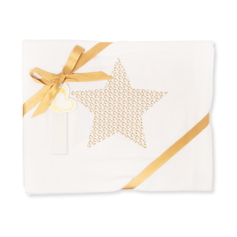Handprinted Muslin Swaddle – Me Star