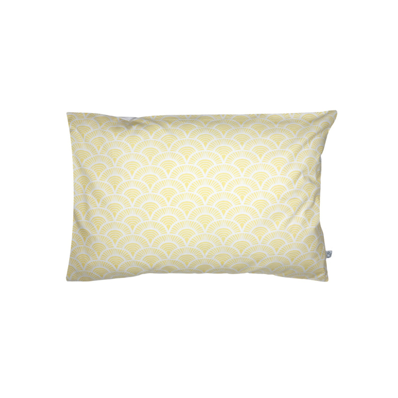 Handprinted Junior Cushion (Kid's pillow) – Art Deco - Yellow