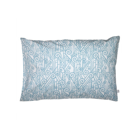 Handprinted Junior Cushion (Kid's pillow) – Vintage Spiral - Blue