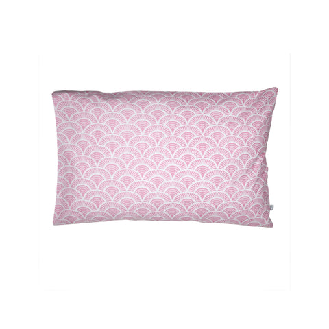 Handprinted Junior Cushion (Kid's pillow) – Art Deco - Pink