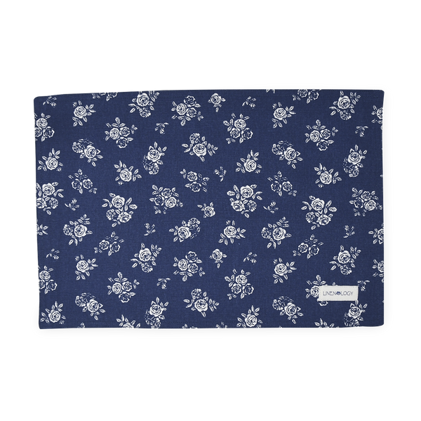 Place mats - English Rose - Navy