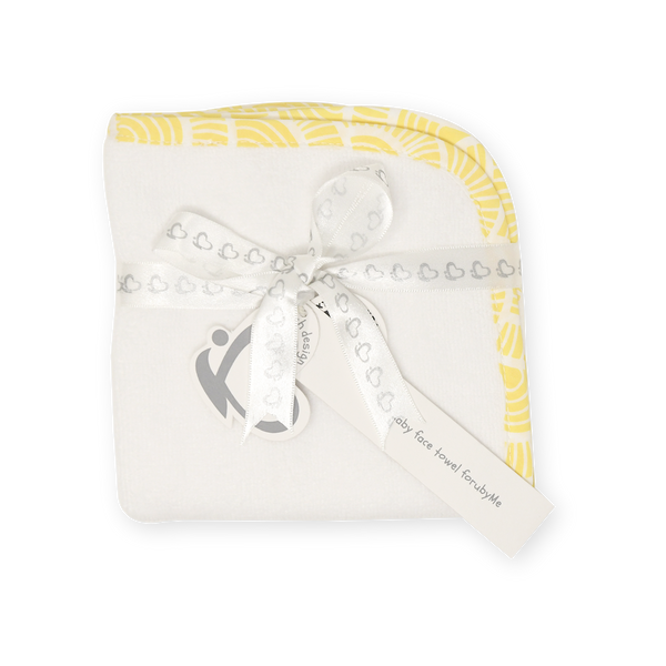 Facetowel / Burptowel (Baby) – Art Deco - Yellow