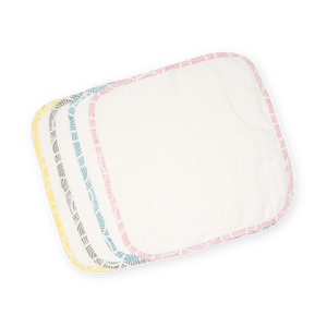 Facetowel / Burptowel (Baby) – Art Deco - Blue