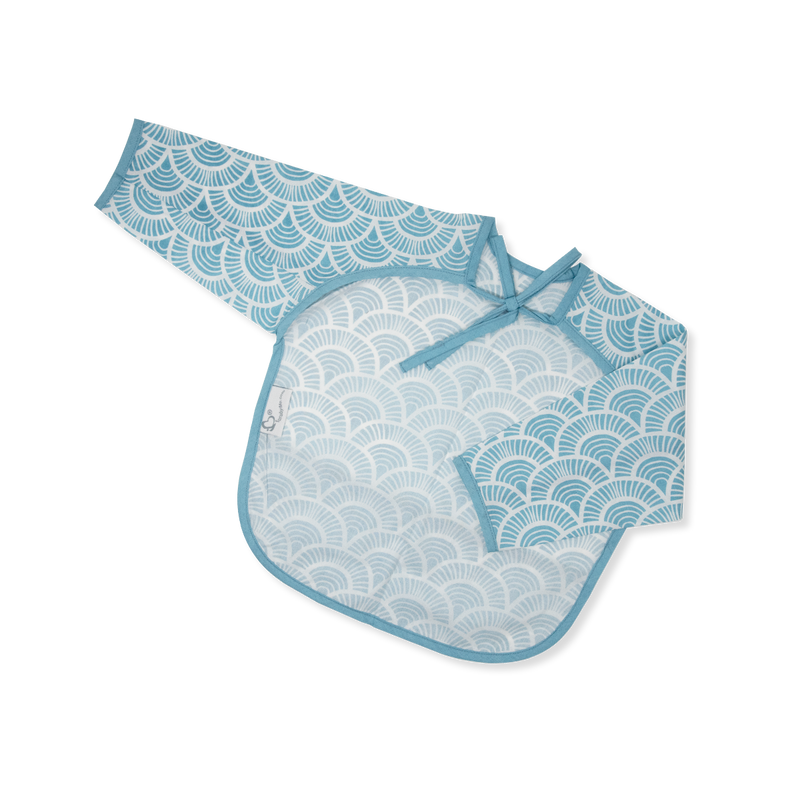Acrylic Coated Feeding Apron - Art Deco - Blue