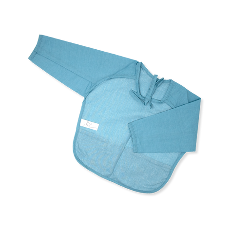 Acrylic Coated Feeding Apron - Solid - Sky