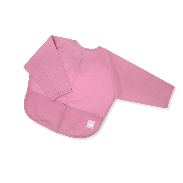 Acrylic Coated Feeding Apron - Solid - Rose