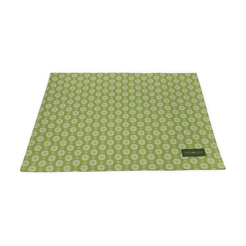 Place mats - Geo Lime
