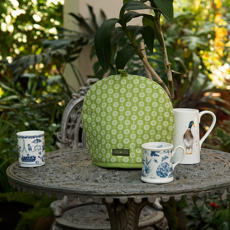 Tea Cosy - Geo Lime