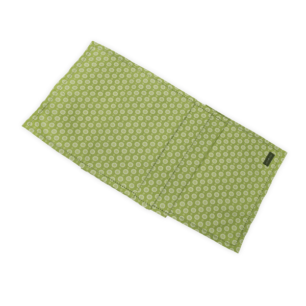 Table Runner - Geo Lime