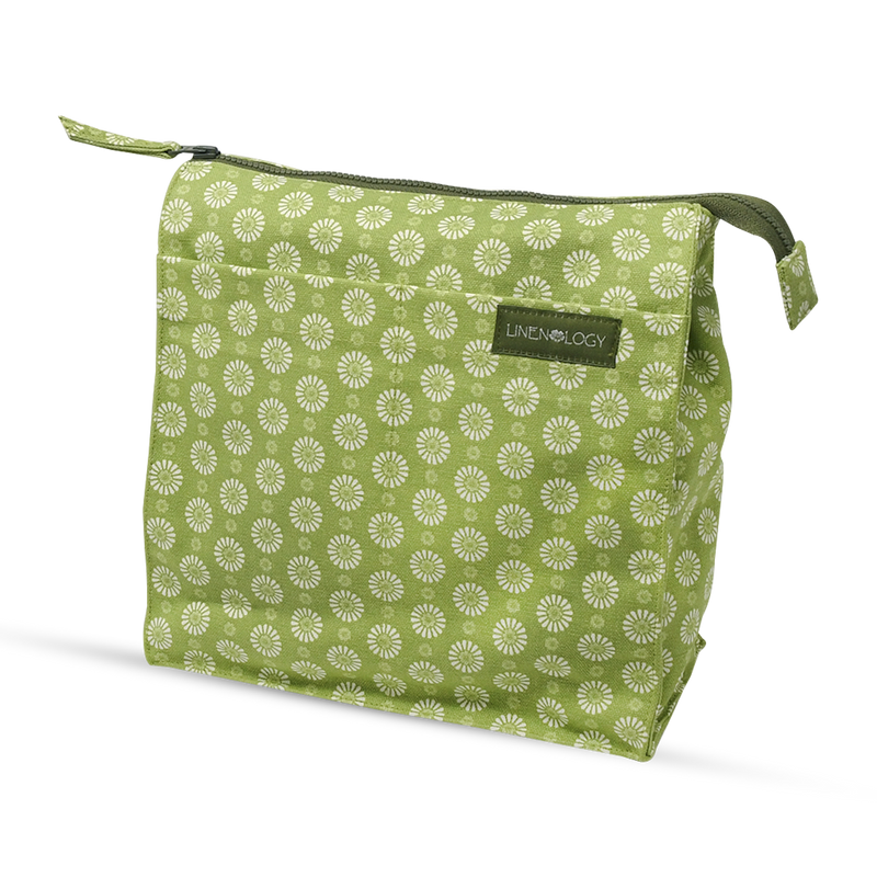 Wash Bag Tall - Geo Lime