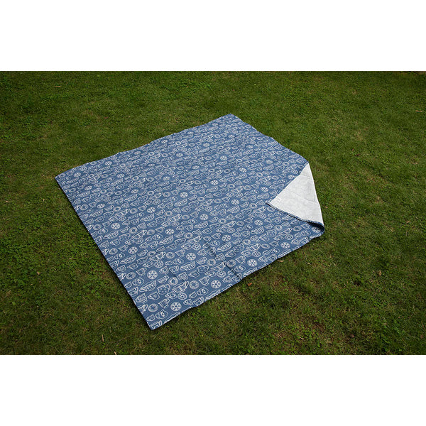 Ground Mat - Cup & Saucer - Navy