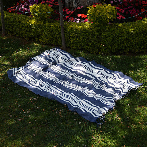 Hammam Towel - Stripes - Indigo