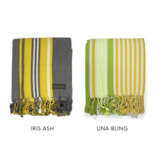 Set of 2 Hammam Towels - Iris Ash, Una Bling