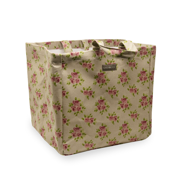 Acrylic Coated Laundry Bag - Vintage Rose