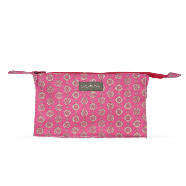 Makeup Bag Big - Geo Pink Flambé